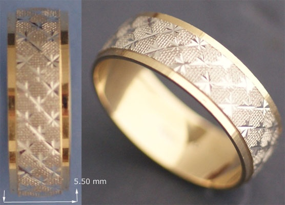 The white gold band ring is sparkling, welcoming & useful.