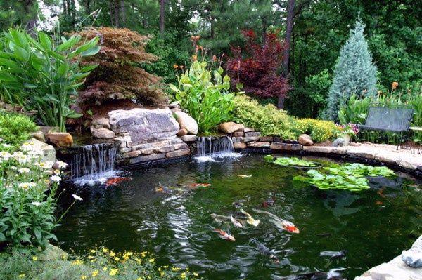 Top 50 Best Backyard Pond Ideas Outdoor Water Feature Designs Pond Landscaping Ponds Backyard Fish Ponds Backyard