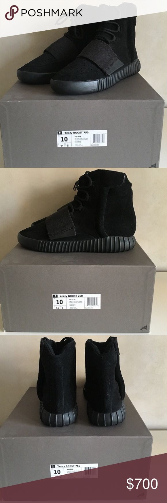 Pirate Black Yeezy 750 Boost 10/10 condition DS Yeezy Shoes Sneakers