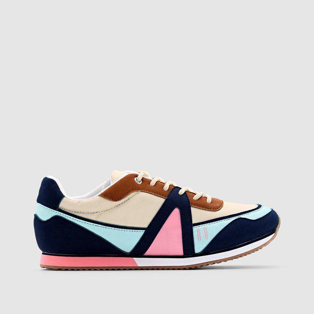 Stylish SOFT GREY Colourful Slip-On Trainers