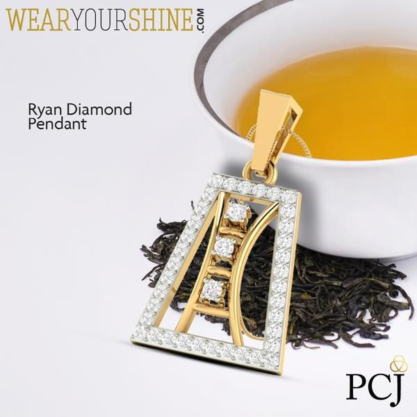 """For the perfect edgy look. """"The Ryan Diamond Pendant"""" by WearYourShine  #WearYourShine #Love #Diamonds #Men #Jewellery #PCJeweller #Fashion #Chic #Trends #IndianJewellery"""
