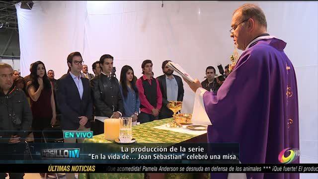 Es bendecida la nueva serie de Carla Estrada, En la vida de... Joan Sebastian, protagonizada por José Manuel Figueroa, en una misa
