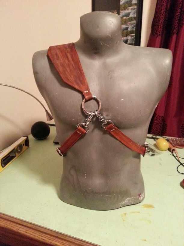Leather back quiver harness