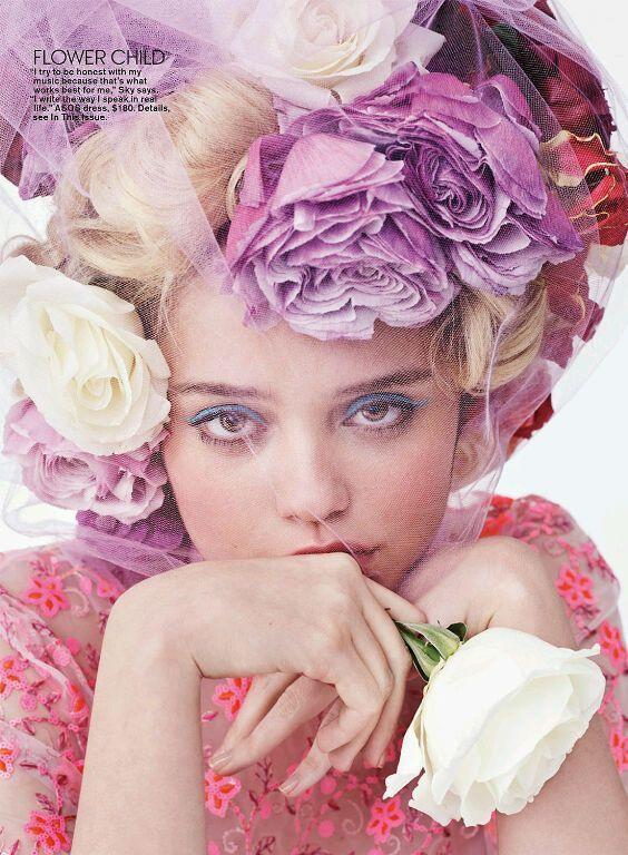 Queen Sky.Fashion, Teen Vogue, Sky Ferreira, 2014, Beautiful, Teenvogue, Flower Power, Josh I Was, Skyferreira