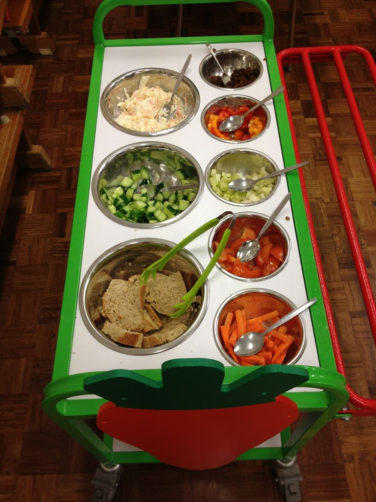 Fresh, crunchy vegetables on the salad trolley at Dr.Radcliffe's CE Primary School.