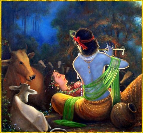 An intimate moment in the sanatana dhama.