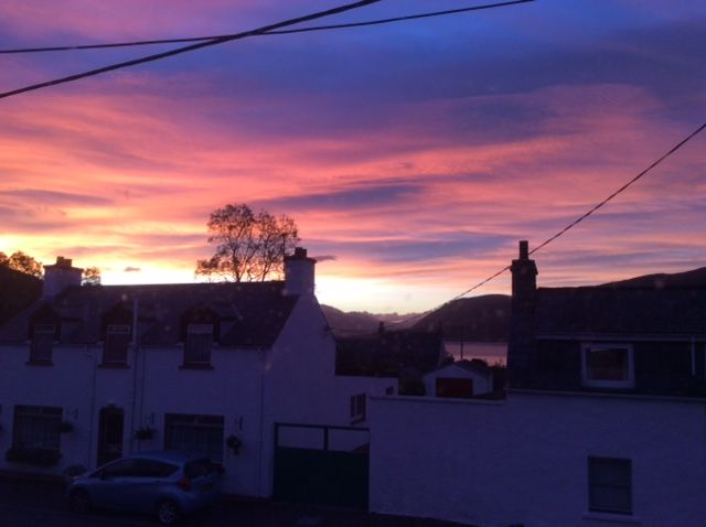 View from my bedroom window just after 7am 1 November 2015