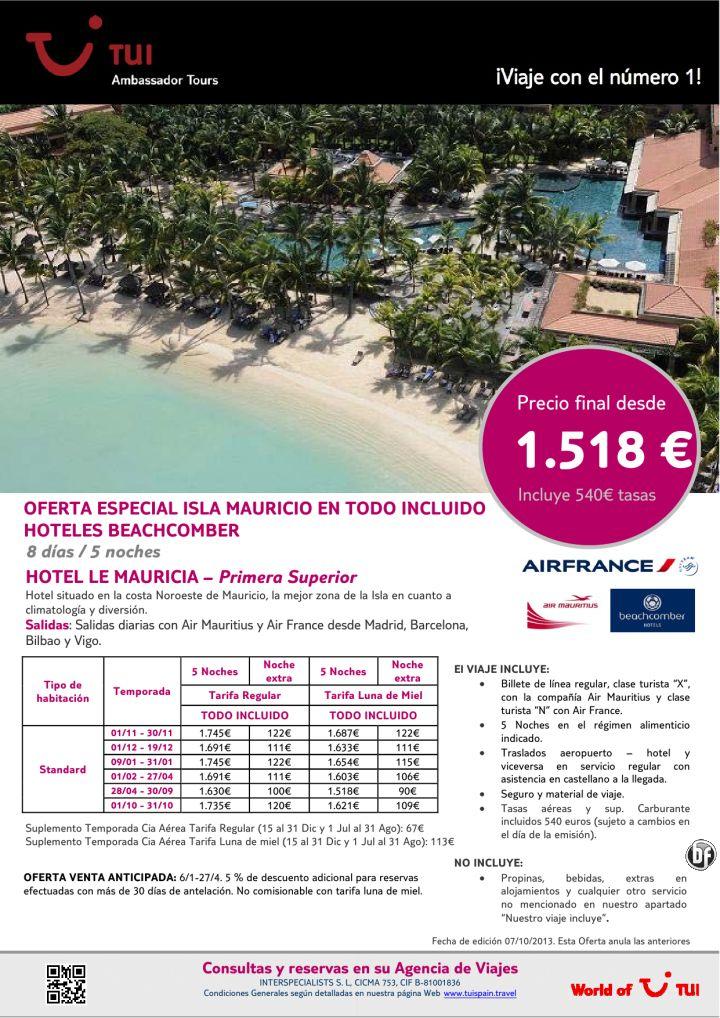 Oferta Especial Isla Mauricio - Hotel Le Mauricia ¡Todo Incluido! Precio final desde 1.518€ - http://zocotours.com/oferta-especial-isla-mauricio-hotel-le-mauricia-todo-incluido-precio-final-desde-1-518e/