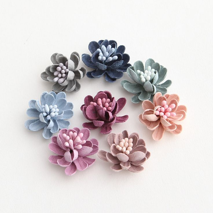 2017新しい3d花小さな芽繊維布人工花diy手作り材料アクセサリー20ピース/ロット