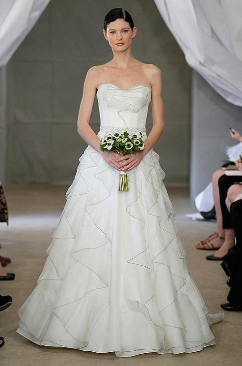 Carolina Herrera textured wedding dress, Spring 2013