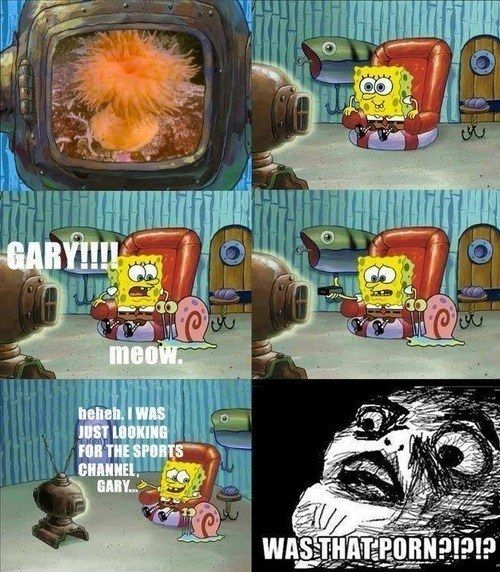 "When SpongeBob possibly watched (anemone!) porn: | 33 Jokes That Went Way Over Your Head As A Kid {I ""got""/realized SOME of them as a kid...}"
