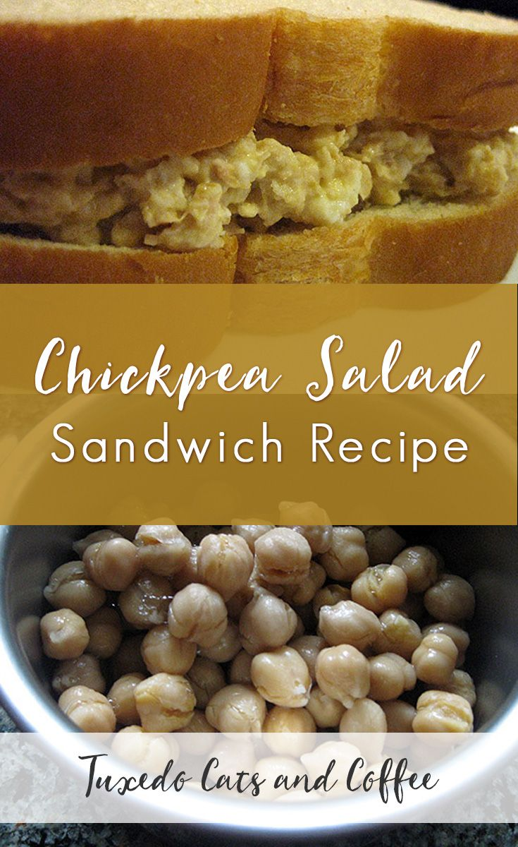 This chickpea salad sandwich recipe made of chickpeas, eggs, and mayonnaise (feel free to substitute vegan ingredients as well) is simple to make and can be adapted for any diet, from vegetarian to vegan and even gluten-free if you just change up the bread. Here's my chickpea salad sandwich recipe as a vegetarian alternative to tuna salad.