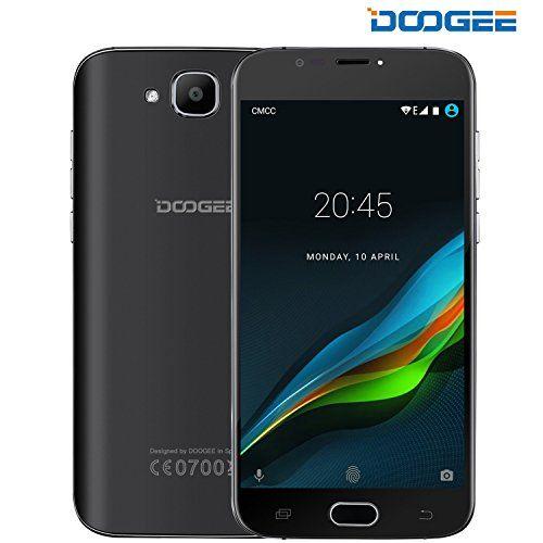 Sim Free Mobile Phones Doogee X9 Mini Android 6.0 Phone - 3g Dual Sim Unlocked Smartphones - 5 Inch Hd Display - Mt6580 Quad Core 1gb Ram8gb Rom - 5.0mp5.0mp Camera - Fingerprint Smartphone - Black