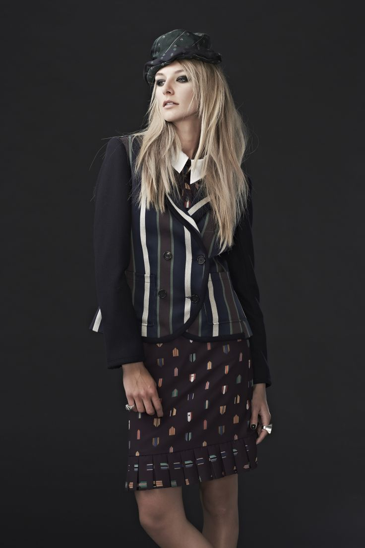'Earn Your Stripes' Jacket, 'Jet Flag' Shirt and 'Emblem to my World' Skirt.