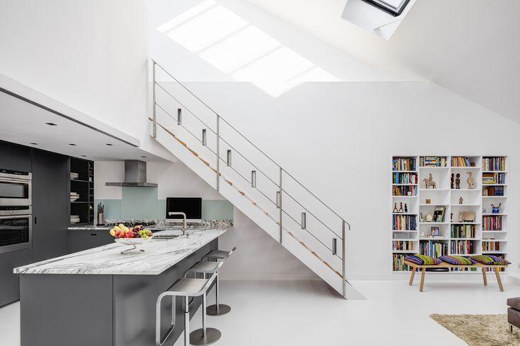 London loft apartment. White on white.