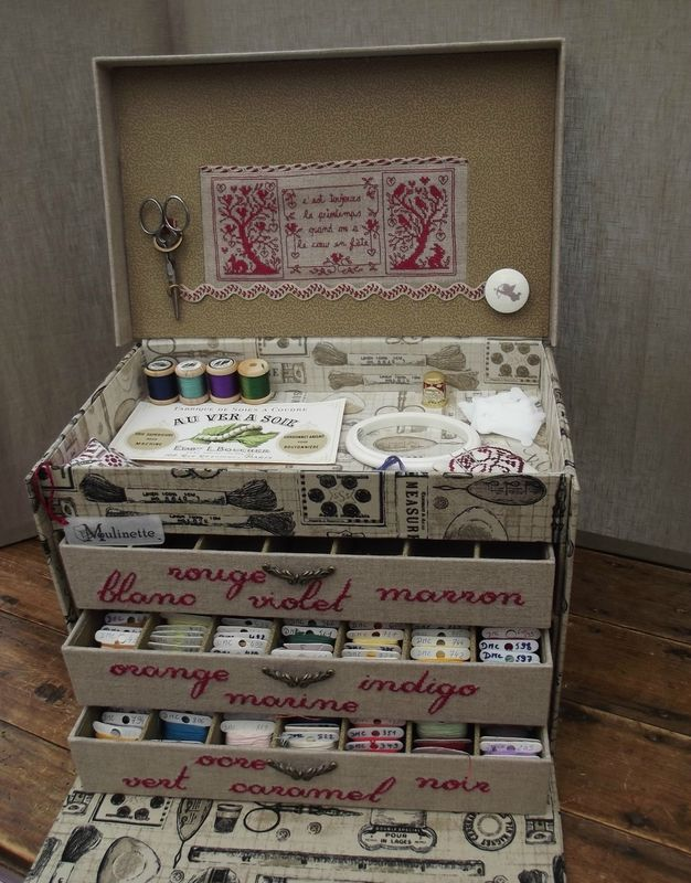 Floss box -- Stitching and cartonnage -- WOW