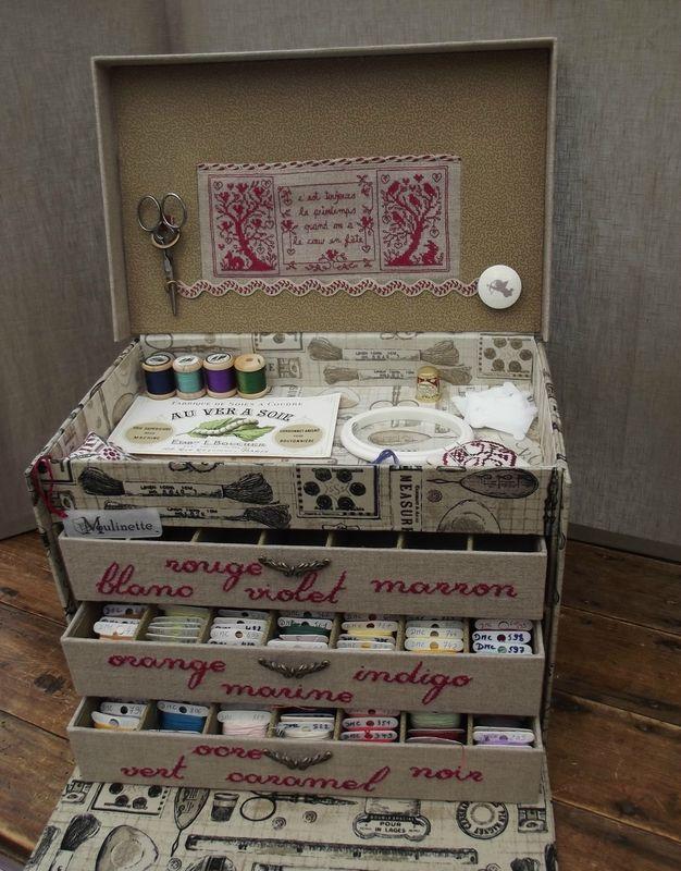 Floss box -- Stitching and cartonnage -- WOW