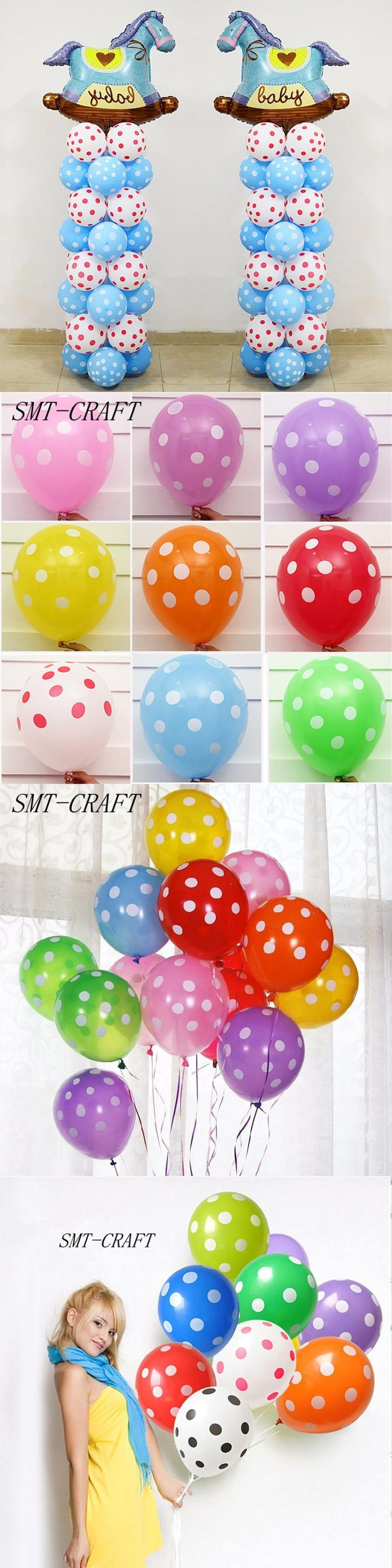 10Pcs/Lot 2.8g12inch Polka Dot Latex Balloon Inflatable Helium Air Balls For Wedding Birthday Party Decoration Balloons Toys