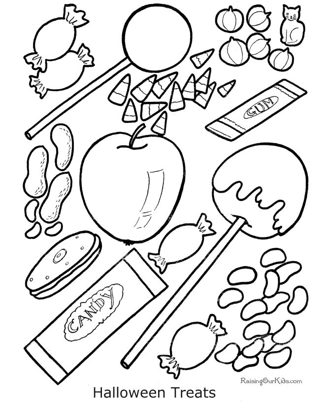 Kid Halloween Coloring Book Pages