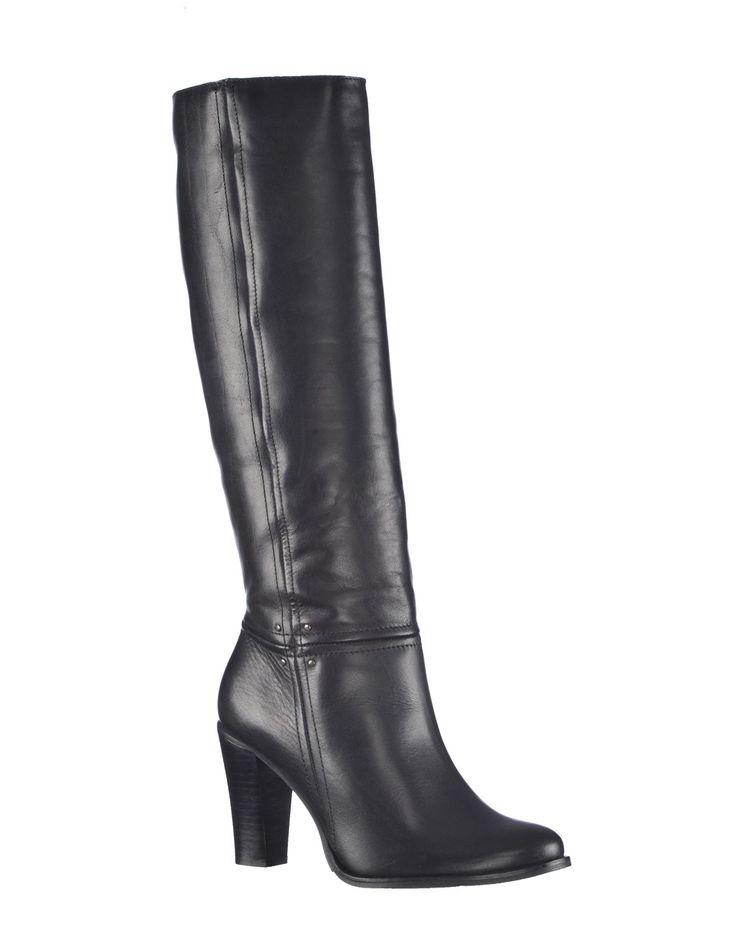 Cizme inalte pentru dama, culoare neagra - Cizme Inalte Marca Thurley.