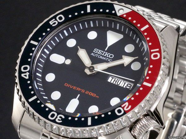 Seiko SKX009K2 7S26 Pepsi Bezel Black Diver Watch for $188 for sale from a Seller on Chrono24