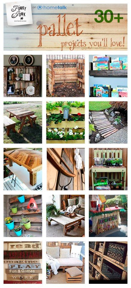 30+ pallet projects you'll love! Curated by Funky Junk Interiors from Hometalk