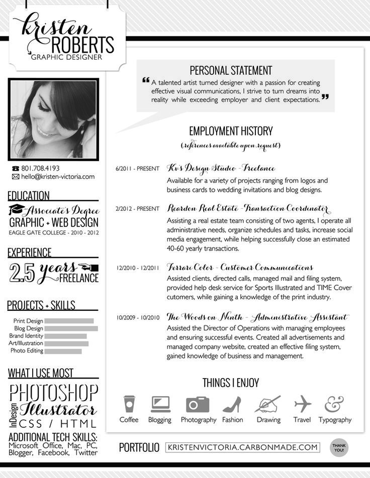 10 best Resumes images on Pinterest Creative curriculum - graphic designer resume examples
