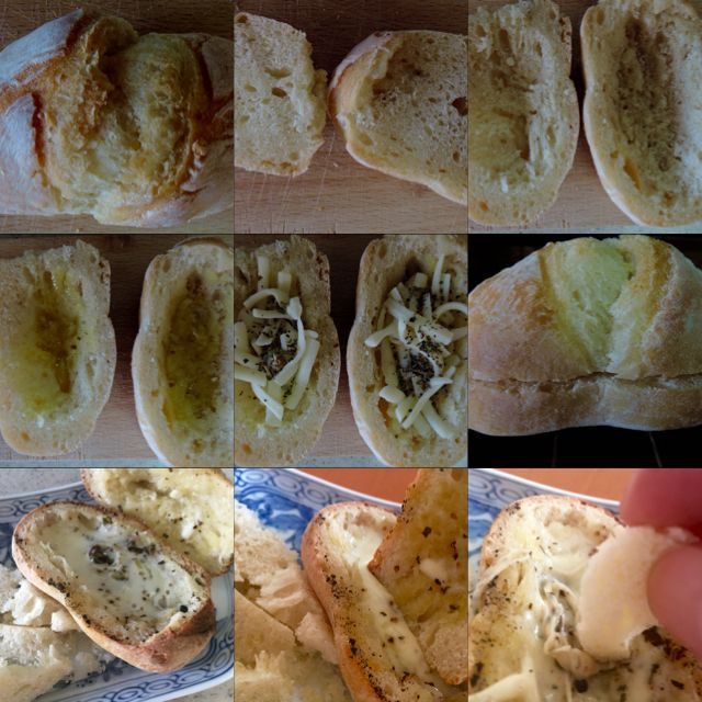 A little cheese fondu of a petit bread. All pictures are on http://pane.piazza.link/2016/02/19/無塩プチパン・チーズフォンデュ/