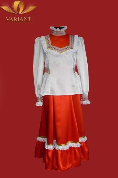 Женский казачий сценический костюм