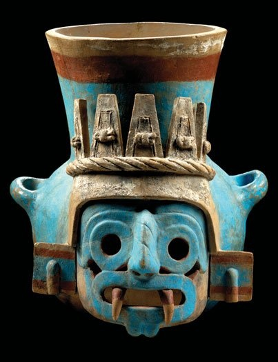 You don't need to do any strange faces if the coffee is too strong. -- Aztec Ceramics at the Field Museum | Cultures 'N Clay