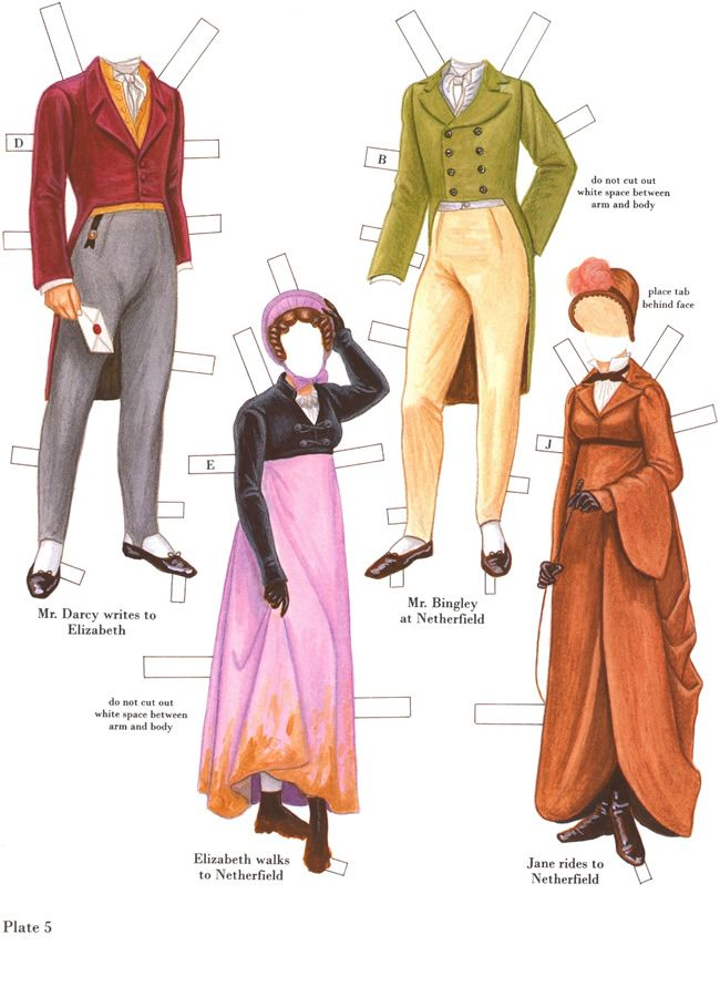 Jane Austen paper doll costumes: inkspired musings: Fantasy Cottages with Fairies