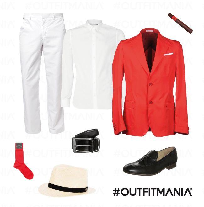 La grande bellezza | Un outfit dalle continue oscillazioni di stile tra la bellezza del passato e la monotonia del presente... | #outfitmania #outfit #style #fashion #dresscode #amazing #redjacket #whitepants #shirt #classic #gorgeous #man #party #topman #borsalino #falke #wear #perfect #music | CLICCA SULLA FOTO PER SCOPRIRE L'OUTFIT E COME ACQUISTARLO