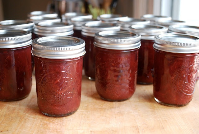 sour plum and ginger jam