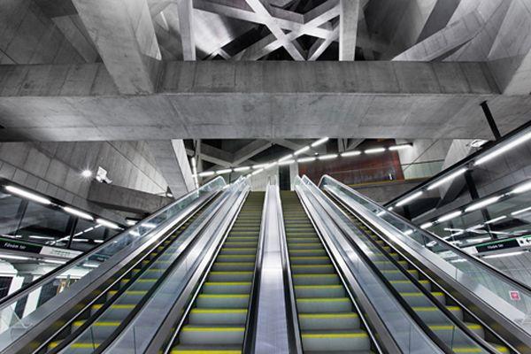 M4, nuova stazione metropolitana a Fővám tér, Budapest - progetto Sporaarchitects