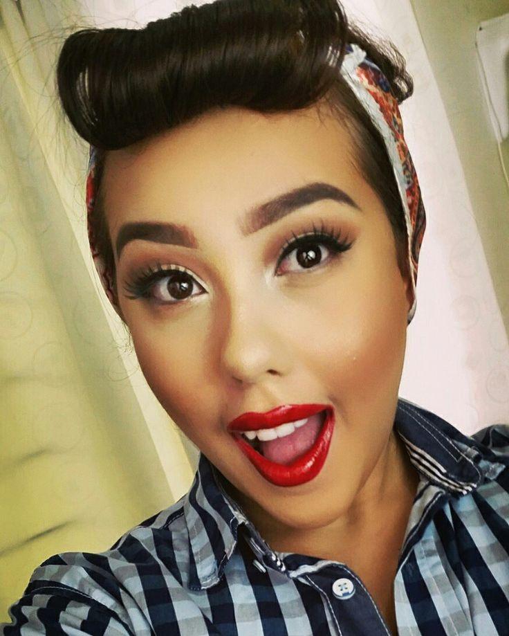 Pin up makeup inspired
