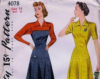 década de 1940 simplicidad patrón 4313 / señoritas por anne8865