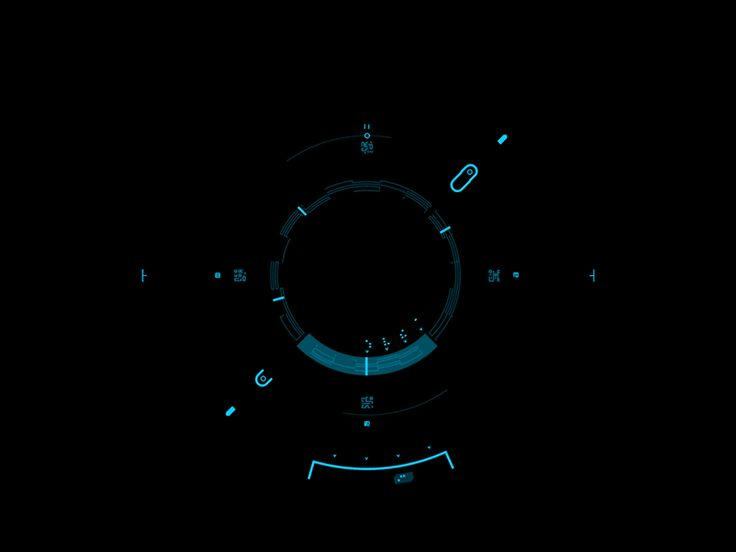 Compass Mode Animated UI | Futuristic User Interface #UI Design