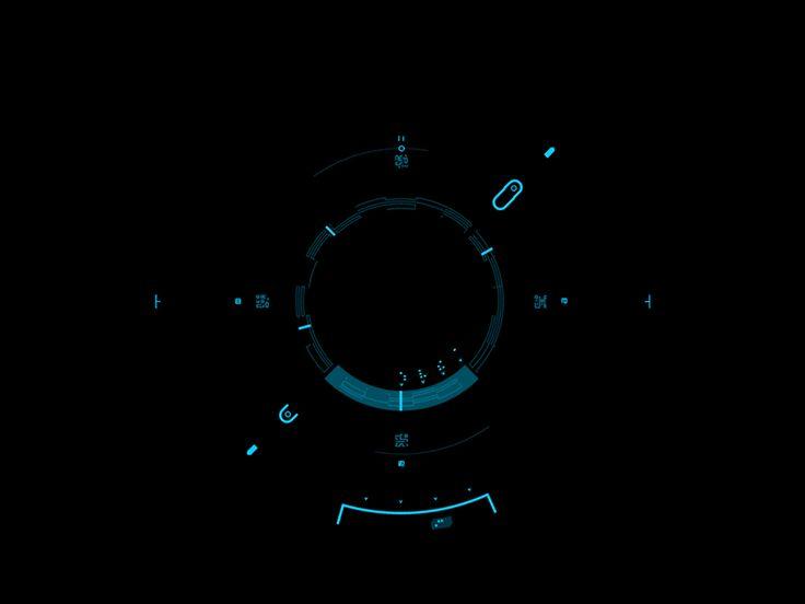 Compass Mode Animated UI | Futuristic User Interface #UI Design