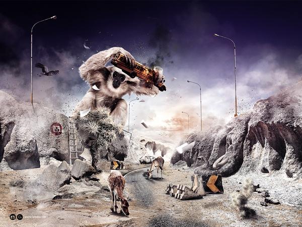 Desktopography 2010 - Breaking Silence by Olli-Pekka Jauhiainen, via Behance