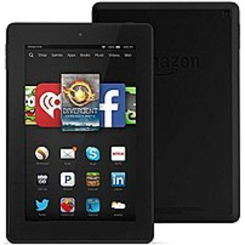Amazon Fire HD KNDFRHD16W7IN Tablet PC - 1.5 GHz Quad-Core Processor - 1 GB RAM - 16 GB Storage Capacity - 7.0-inch Display - Fire - Black