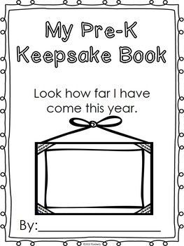$3 PRE-K KEEPSAKE BOOK (FIRST WEEK-LAST WEEK ACTIVITIES) - TeachersPayTeachers.com