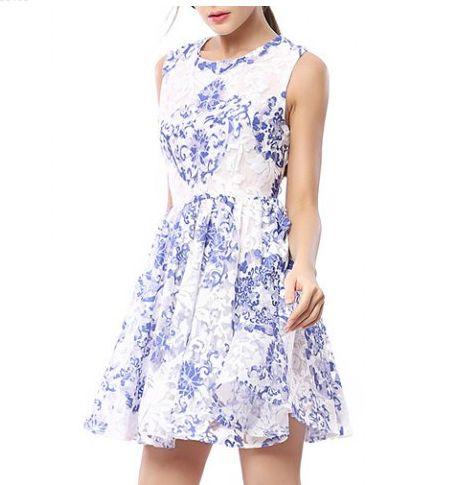 Blue + White Summer Dress