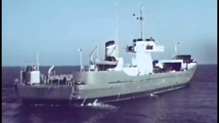 Lighter Beach Discharge BDL 1960 US Army; from  R&D Progress Report No. 2 https://www.youtube.com/watch?v=Wr3INB20FBY #lighter #cargo #transport