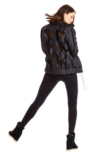 Black Lexi Jacket from Lorna Jane, The Back Detailing is Awesome.