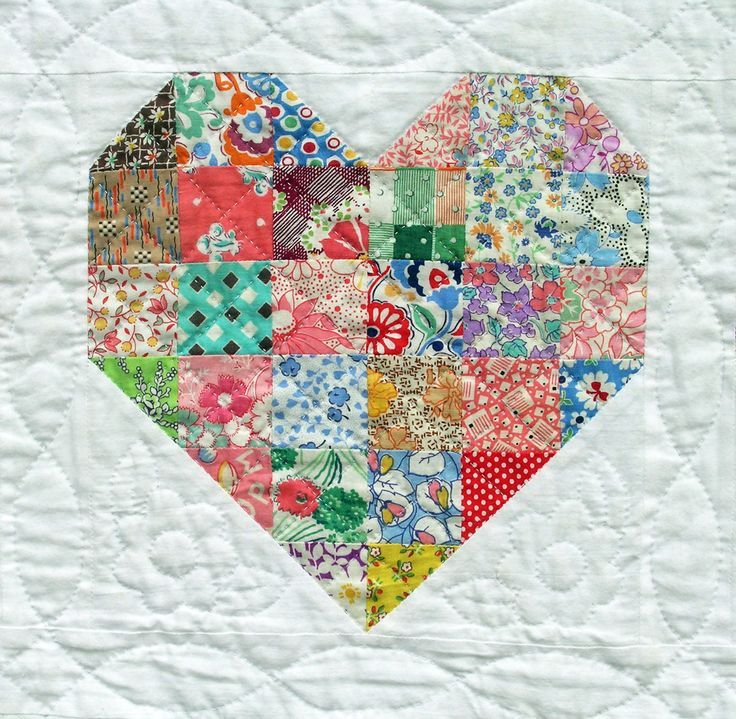 Love this heart quilt idea ... and if I run out of scraps I'm sure there's just another reason to go fabric shopping!