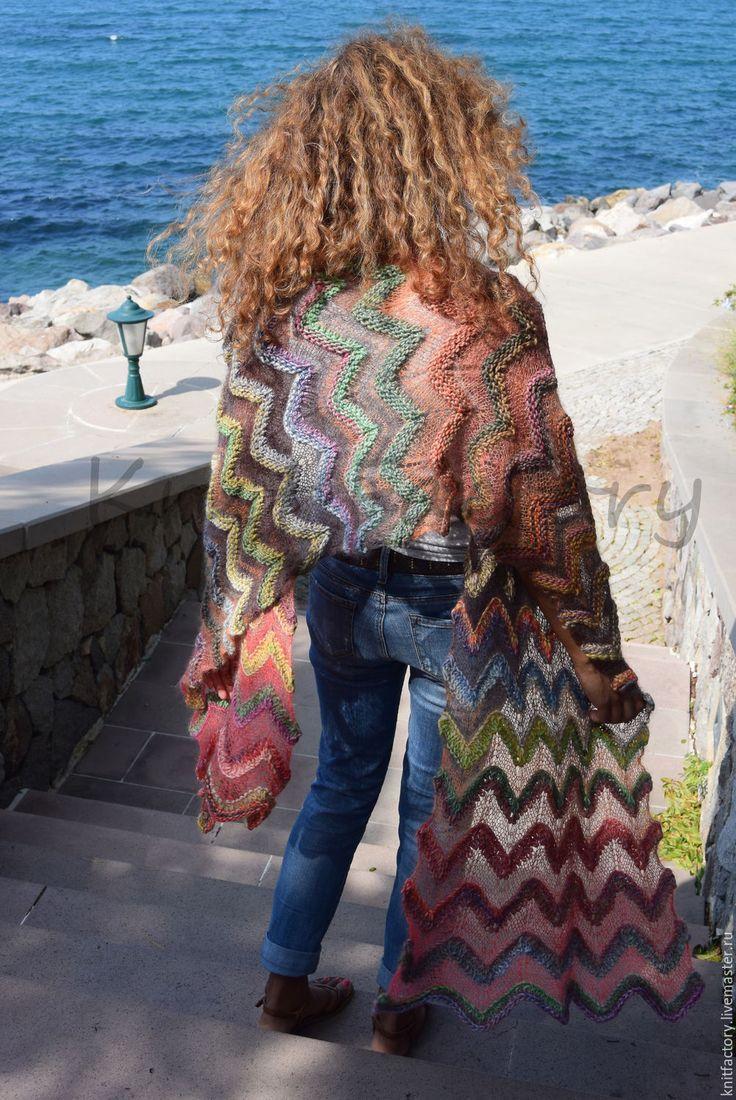 вязание из пуха и мохера схемы вязания платков палантинов