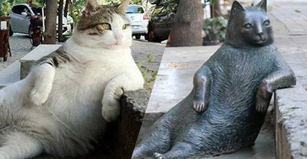 "A sculpture created in memory of ""Tombili,"" the portly cat who became a social media phenomenon after being photographed posing on a sidewalk in Istanbul's Ziverbey neighborhood, will be inaugurated on Oct. 4 on World Animal Day"