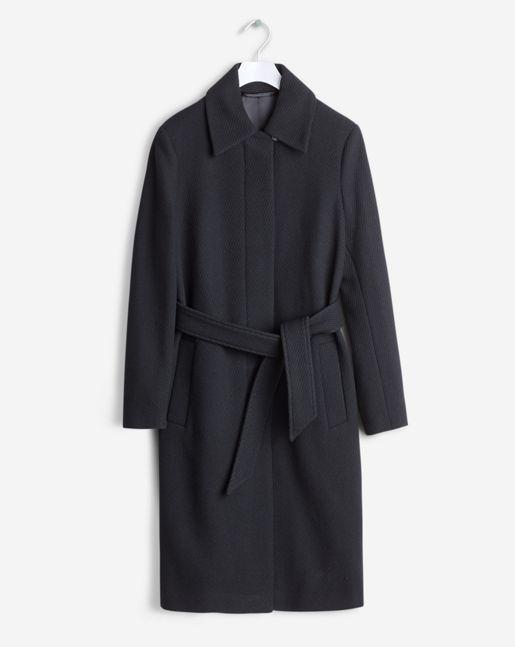 Iza Wool Belt Coat Black - Signature Essentials - Shop Woman - Filippa K
