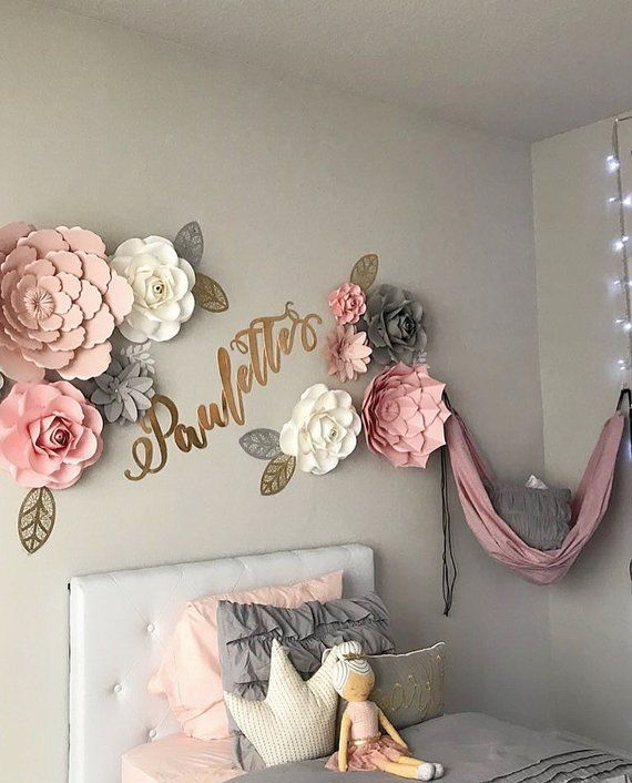 40 Best Collections Bedroom Wall Decoration Ideas With Paper Flowers In 2020 Paper Flower Wall Decor Flower Wall Decor Girls Room Decor
