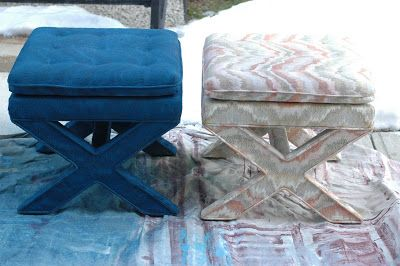 Little Green Notebook: Spray Painting Upholstered Furniture
